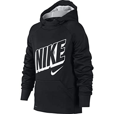 3eb5367328e2 Amazon.com  Nike Boy s Therma Graphic Training Pullover Hoodie  Clothing