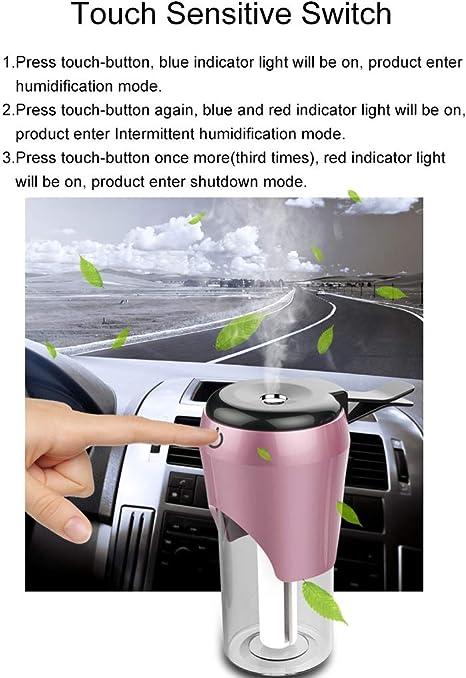 Lorsoul Car Humidificateur USB Huile Essentielle Diffuseur dair Automatique Refresher diffuseur et Cigare Double USB Allume-Chargeur de t/él/éphone