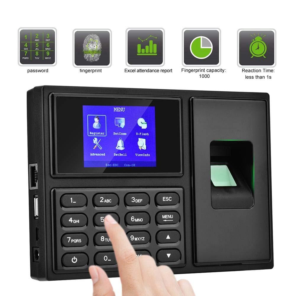 Ciglow Fingerprint Attendance Machine, 2.4in TFT LCD Intelligent Biometric Fingerprint Password Attendance Machine for Offices, Factories, Hotels, Hospitals, etc, 100-240V.(US) by Ciglow