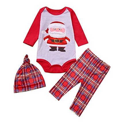 HKDGID Christmas Family Funny Cartoon Print Pajamas Outfits Sets Winter  Matching X-mas Eve Sleepwear Nightwear Baby Kids Dad Mum Tracksuit Clothes  Tops+ ... 461ad5b4e