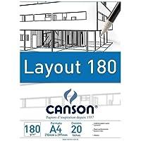 Canson 66667028, Bloco Técnico A3 Layout 180g/m², 20 Folhas, A Emabalagem Pode Variar