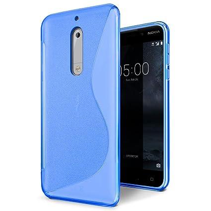 Funda Nokia 5, SLEO Slim Fit TPU Carcasa de Parachoques Case Traslúcido Suave con Absorción de Impactos y Resistente a los Arañazos para Nokia 5 - ...