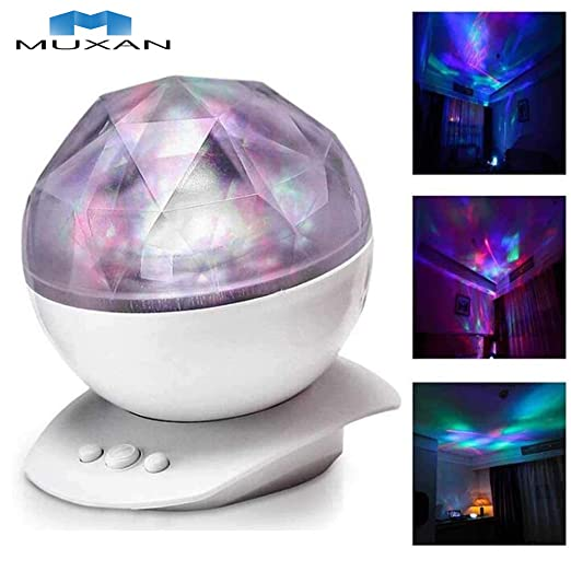 Muxan - Luz nocturna para niños, proyector LED de noche con ...