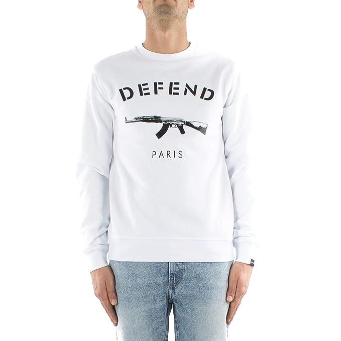 Defend Paris - Sudadera - para Hombre Bianco M: Amazon.es: Ropa y accesorios