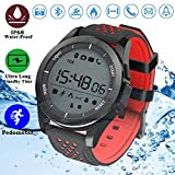 Duperym Waterproof Sport Watch, Smart Watch Fitness Tracker Digital Men Women Wrist Watch Pedometer for Boy Girl Prime Deals Sports Outdoors Activity Calorie Odometers (red)