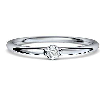 Verlobungsring Diamant Diamantring Solitar 0 06 Carat Tw Vs Top