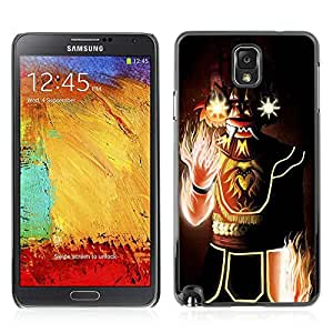 Colorful Printed Hard Protective Back Case Cover Shell Skin for Samsung Galaxy Note 3 III / N9000 / N9005 ( Cool Fantasy Flame Monster )