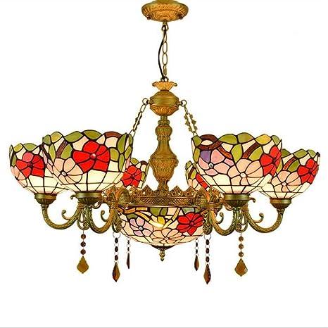 Tiffany Style - Lámpara de techo, European Vintage Vitral ...