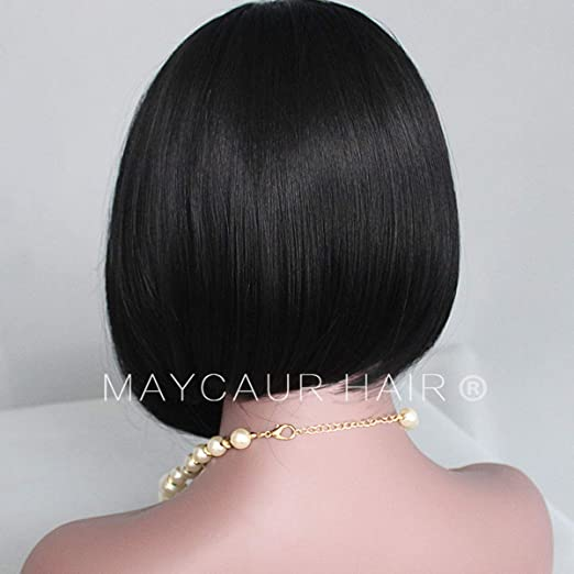 Amazon.com : Vanessa Queen Short Cut Bob Wigs For Black Women Silky Straight Synthetic Lace Front Wig 12Inch : Beauty