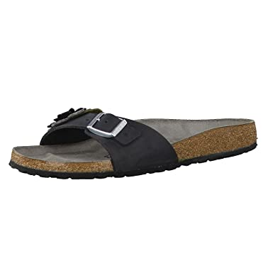 BIRKENSTOCK Damen Sandale Madrid Flower Black 40
