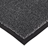 Notrax 130 Sabre Decalon Entrance Mat, for Entranceways and Light to Medium Traffic Areas, 3' Width x 10' Length x 5/16'' Thickness, Charcoal