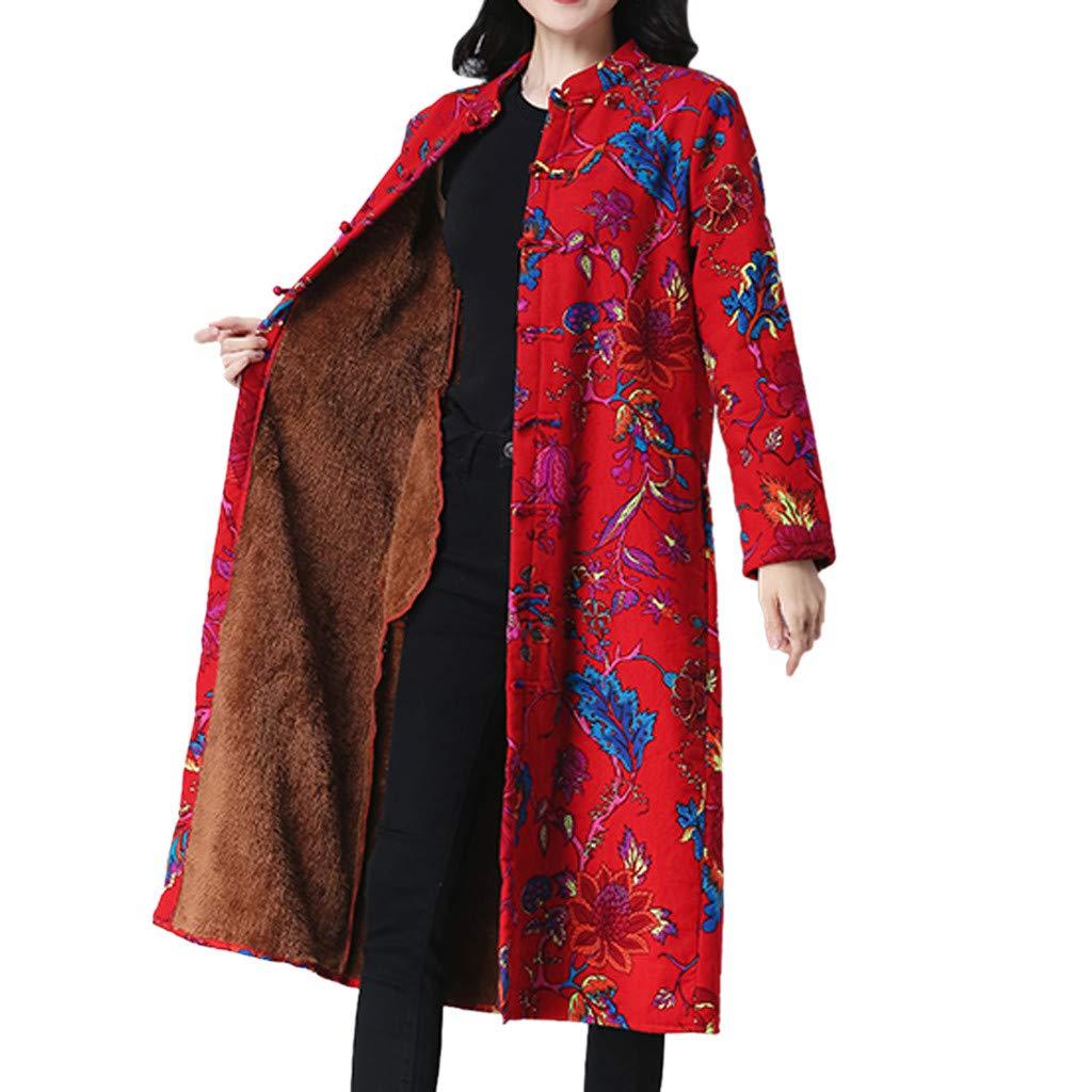 Women Folk-Custom Print Velvet Cotton Outwear Warm Long Thick Coat Jacket Parka HHmei HHmei_Coats_8Nov21_469