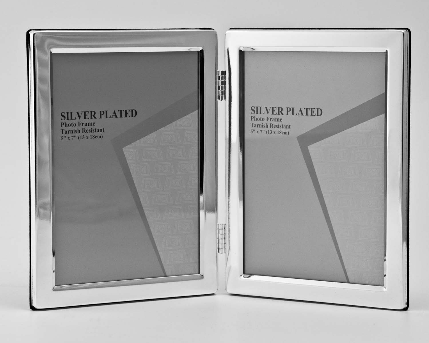 Silver Plated Double Hinged Photo/Picture Frame That Holds 2 (6x8 ...