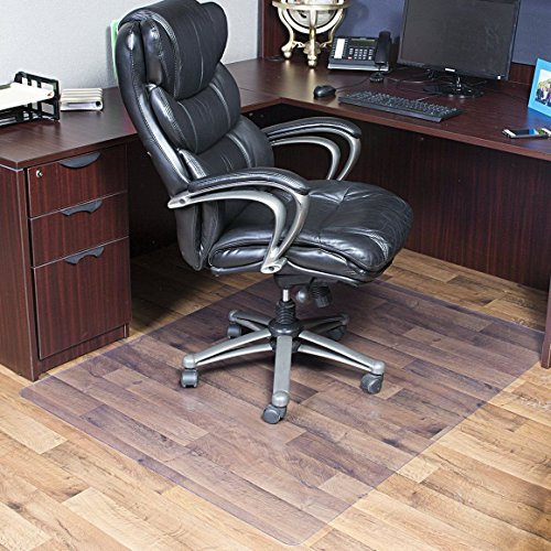 OstepDecor HEAVY DUTY 3mm Thick 48'' x 60'' PVC Chair Mat for Hard Floors   Multi-purpose Rectangular Floor Protector for Office and Home   Transparent - Multiple Sizes by OstepDecor