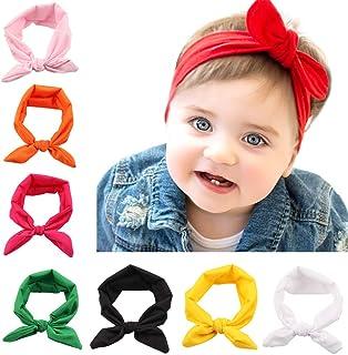 Z-Chen Lot de 8 Pièces Bandeau Cheveux élastique Florale Pour Bébé Fille EU0175