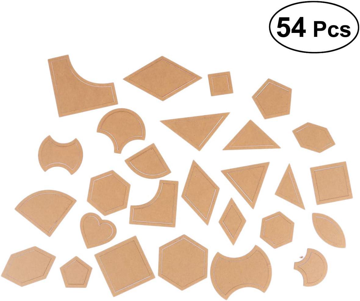 Healifty - Juego de 54 Plantillas de acrílico para Colcha Manual ...