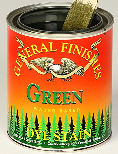 General Finishes Water Based Dye Stain Green Quart