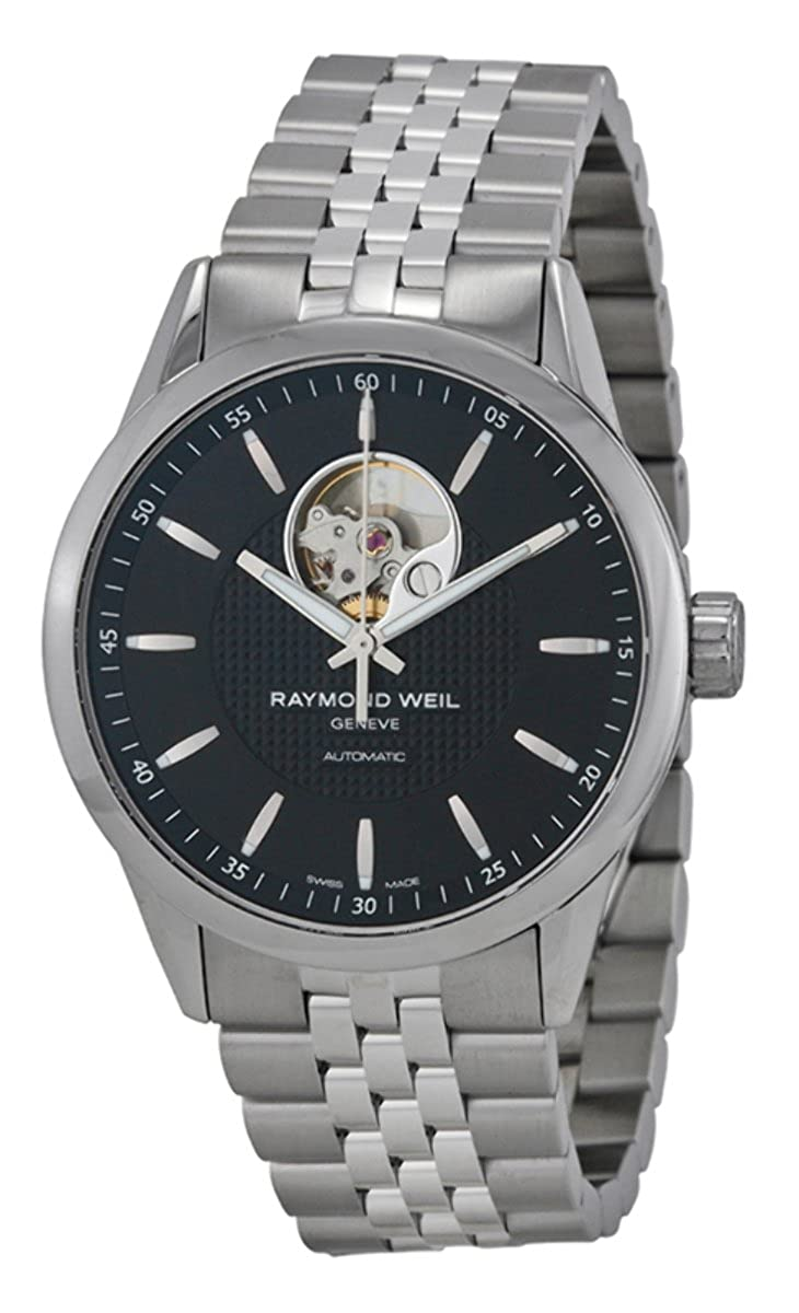 Raymond Weil Men s Freelancer Swiss-Automatic Watch with Stainless-Steel Strap, Silver, 22 Model 2710-ST-20021