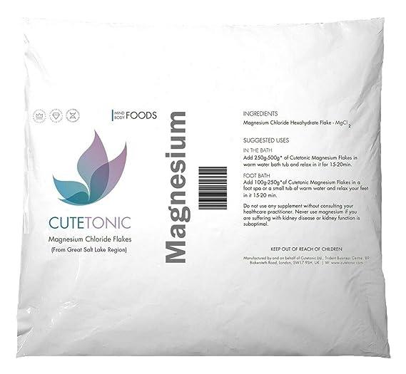 Cutetonic Natural Magnesium Chloride Flakes from Great Salt Lake (2 LB)