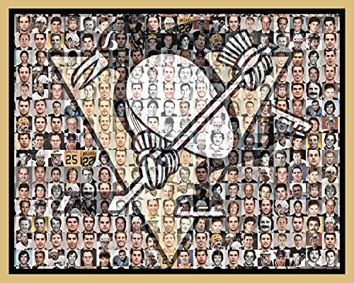 SportsCreations Pittsburgh Penguins Mosaic Print Art Designed Using the Greatest Past and Present Penguins Players of All Time. 8x10 Matted Print.