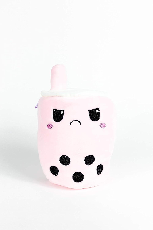 Happy to Mad Reversible Boba Plushie Boba Milk Tea Reversible Boba Plushie