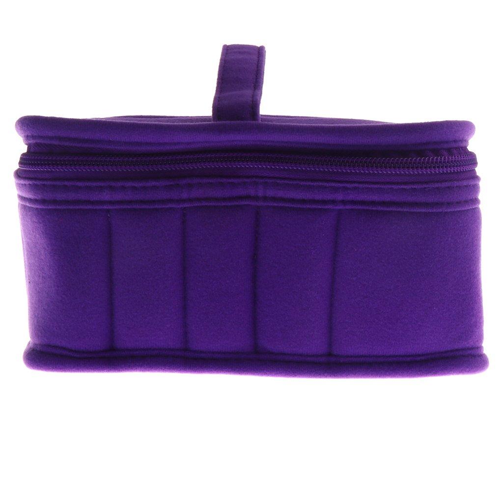 Sharplace 21 Bouteilles Sac/Coffret/Housse Portable à Rangement ou Stockage de Huille Essentielle de 5-30ml/150ml - Idéal pour Voyage - Violet