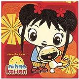 "Amscan Playful Ni Hao Kai Lan Birthday Party Luncheon Napkin (16 Piece), Red, 6 1/2 x 6 1/2"""