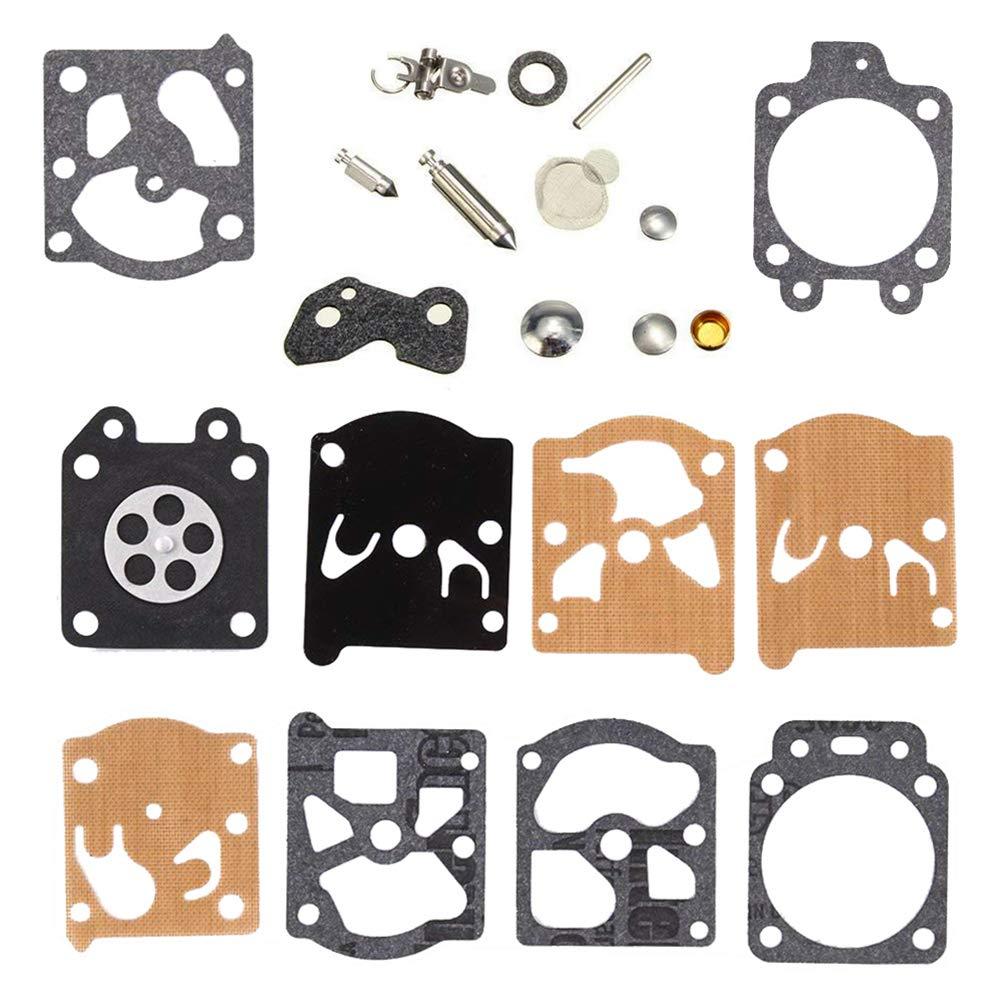 QAZAKY Carburetor Diaphragm Gasket Rebuild Repair Kit for Walbro K20-WAT WA WT Carb ECHO McCulloch Homelite Husqvarna Jonsered Stihl
