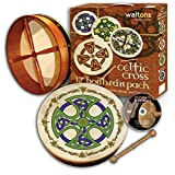 "Waltons 12"" Brosna Cross Design Bodhran Pack Gift Set"