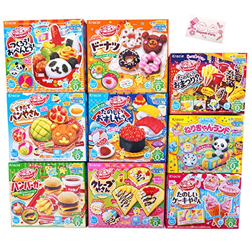 - Assorted 5 Random Boxes Bundle Kracie Popin' Cookin' DIY Gummy Candy Making Kit Sushi, Hamburger, Bento, Pizza