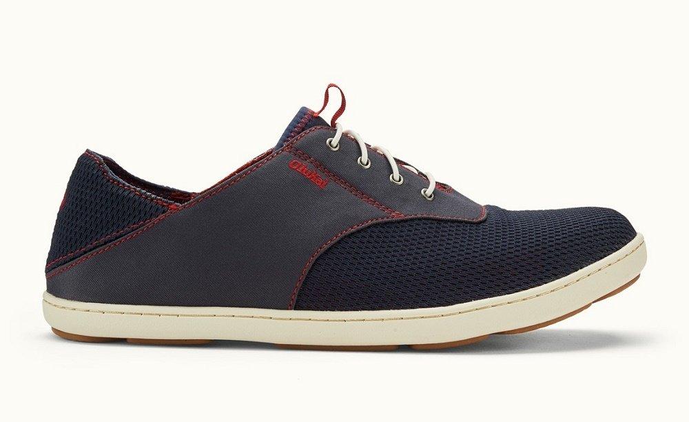 OLUKAI Men's Nohea Moku Casual Sneaker (16, Trench Blue/Deep Red)