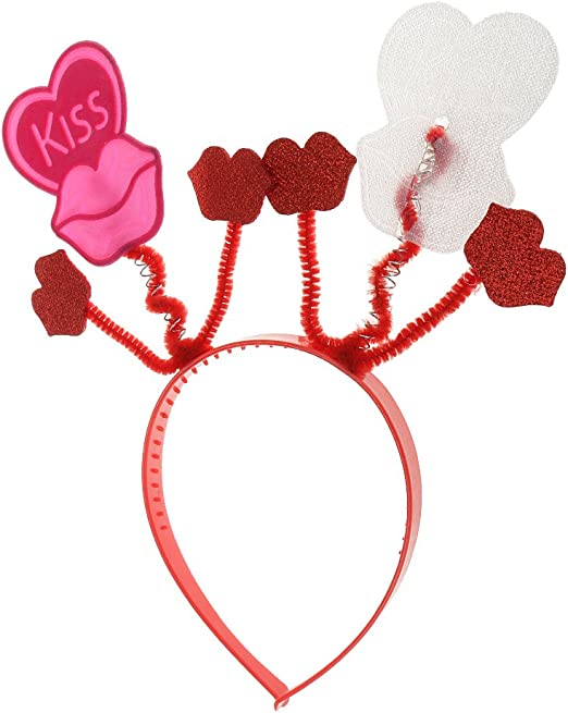 joyMerit Kiss Lip Heart Diadema Mujer Niñas Gallina Fiesta De ...