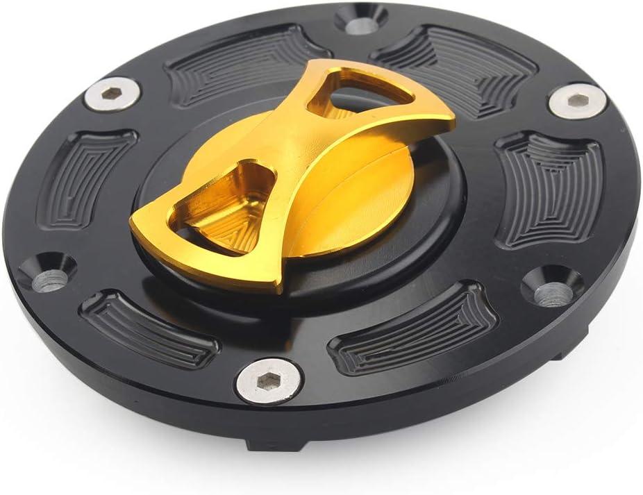 Newsmarts CNC Billet Keyless Oil Fuel Tank Gas Cap Compatible with Kawasaki EX250 Ninja 250R 2008-2012 / Ninja 300 2013-2014