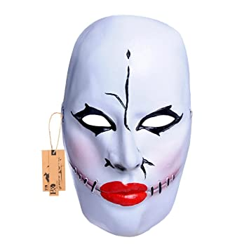 Hyaline & Dora espeluznante máscaras con rojo boca y sutura Facial cicatrices, Halloween Costume Party