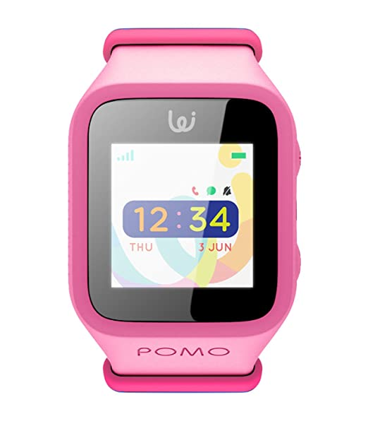 Amazon.com: POMO Waffle Smart Watch GPS Locator for Kids (Pink) with SOS Function, Pedometer, Touch Screen, Phone/Messaging, Precision Locators, and More!