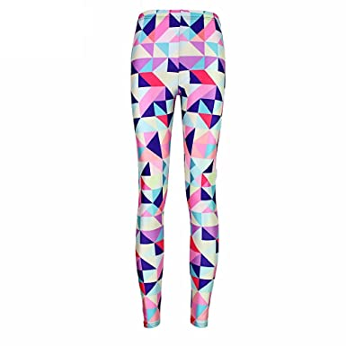 b27591a3715fc Multicolor Geometric Mosaic Design 3D Design Ting Leggings: Amazon.co.uk:  Clothing