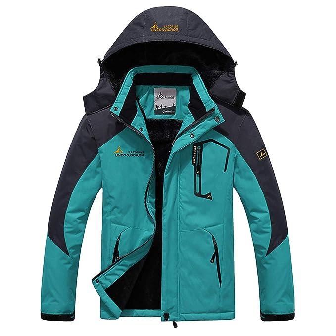 Panegy - Chaqueta para Hombre Abrigo Impermeable para Deportes Esquí Invierno Chaqueta de Nieve a Prueba Viento - Negro Verde Azul Caqui Rojo Marrón - ...