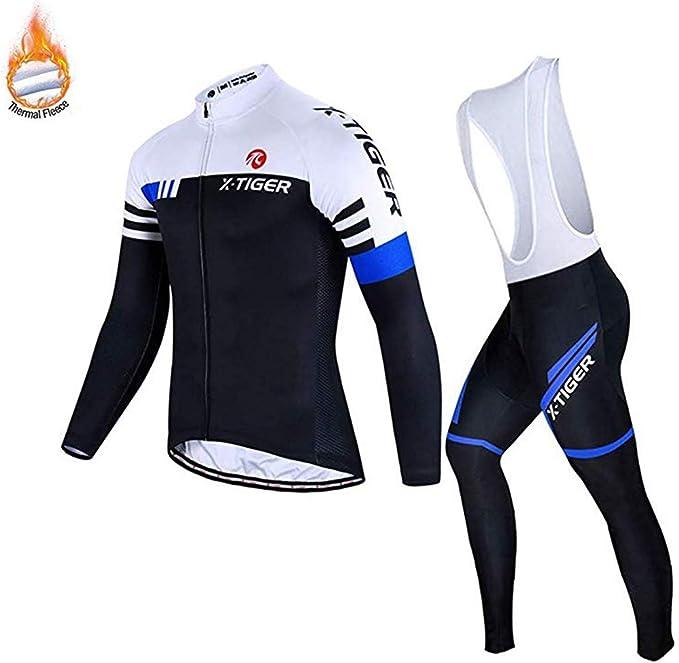 Homme Maillot De Cyclisme Longue//Manches longues hiver thermique froid Wear Cyclisme Veste