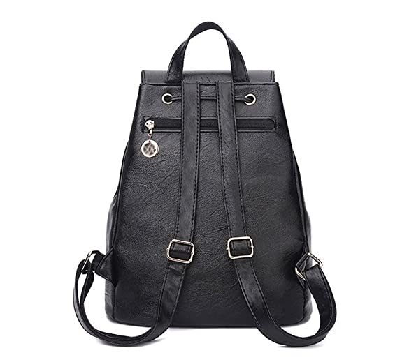 WanYang Simple And Vintage Women Backpack Soft Leather School Bag Ladies  Casual Shoulder Bags Traveling Backpack: Amazon.co.uk: Shoes & Bags