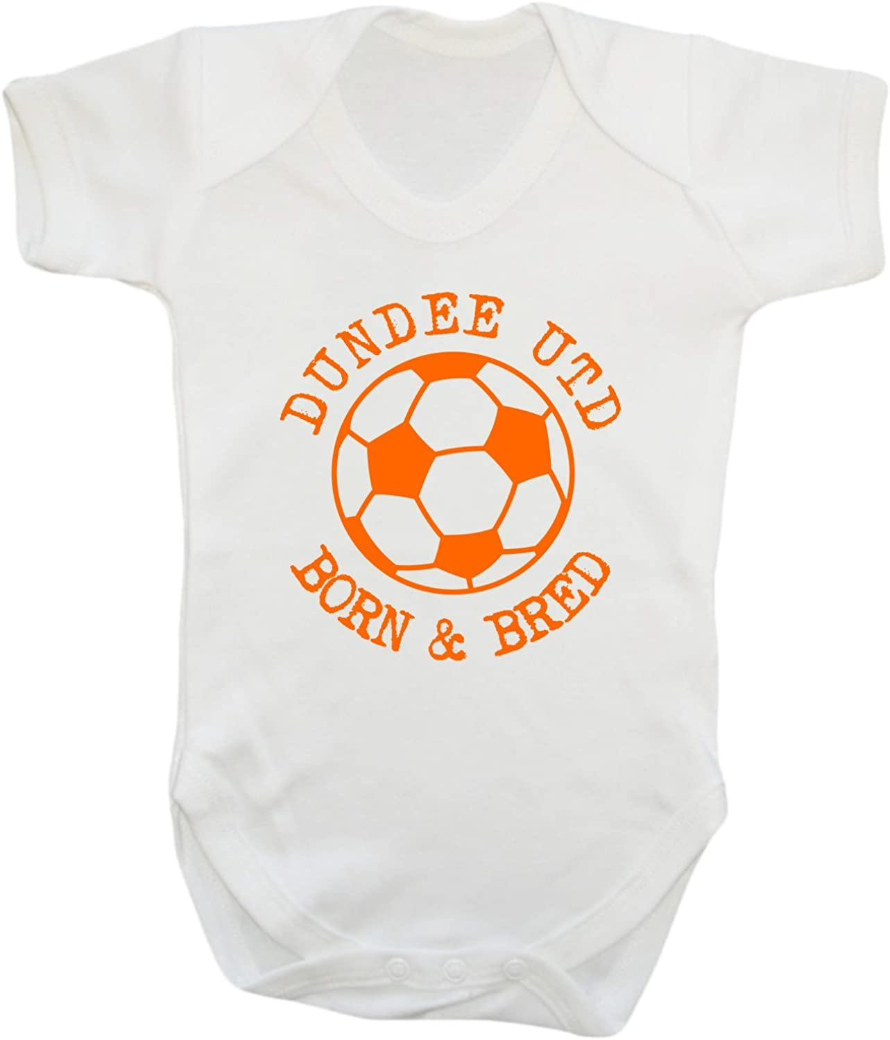 Hat-Trick Designs Dundee United Football Baby Childrens T-Shirt Top-Orange-Born /& Bred-Unisex Gift