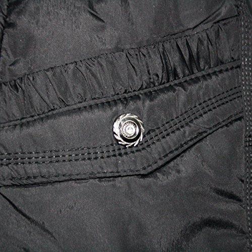 Capucha nbsp; Acolchada Negro Pelo 8 De Puffer Sintético Ladies Abrigo Con Tamaño Y Mujer Chaqueta Morado ZpWfdqU4