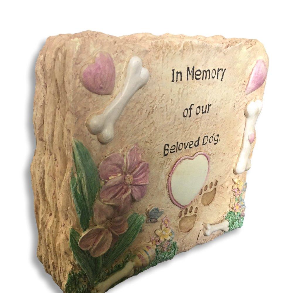 Amazon.com : Banberry Designs Pet Memorial Garden Stone - In Memory ...