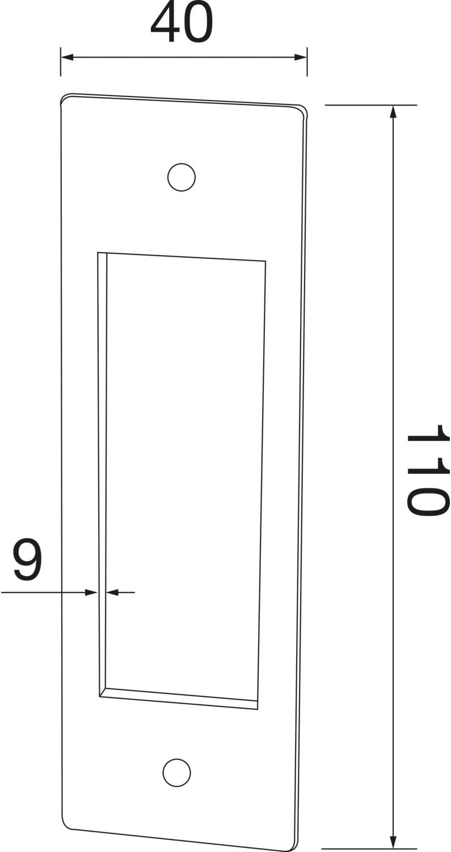 40 x 120 mm 0217.009.00.0.17 Eisen Antik f/ür Schiebet/üren und Schiebetore halc/ö Muschelgriff