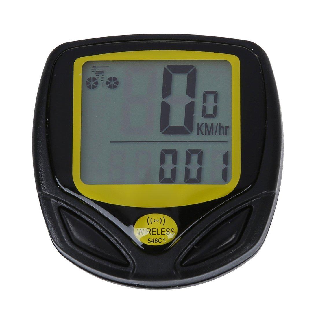 SODIAL(R) Inalambrico Bicicletas Cuentakilometros Velocimetro LED Impermeable Multifuncion