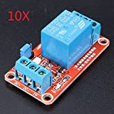 BephaMart 10Pcs 5V 1 Channel Level Trigger Optocoupler Relay Module For Arduino