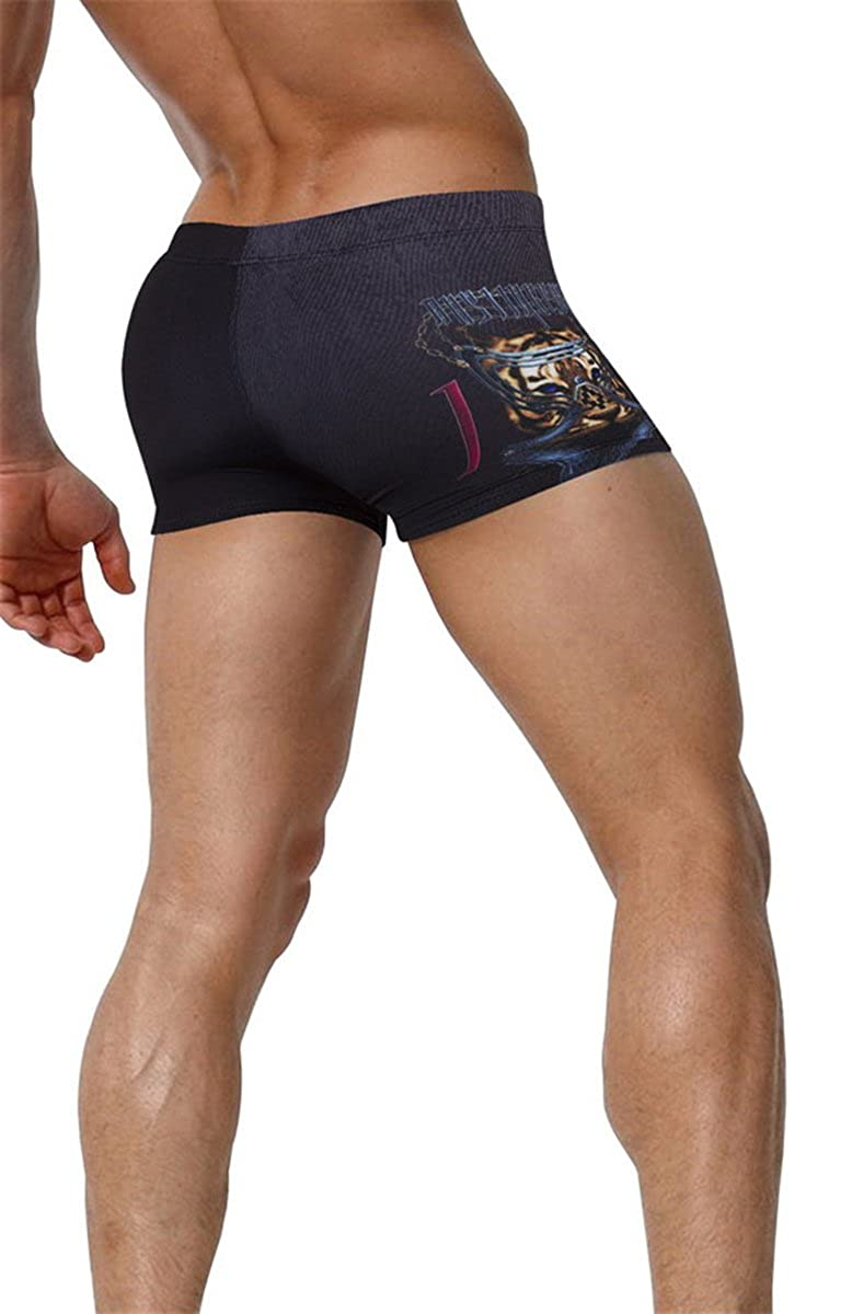 Betusline Mens Novelty Pattern Swimming Shorts