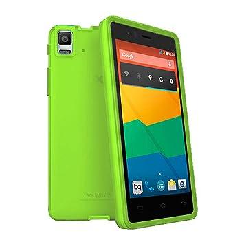 TBOC® Funda de Gel TPU Verde para bq Aquaris E5 HD - E5 FHD de Silicona Ultrafina y Flexible