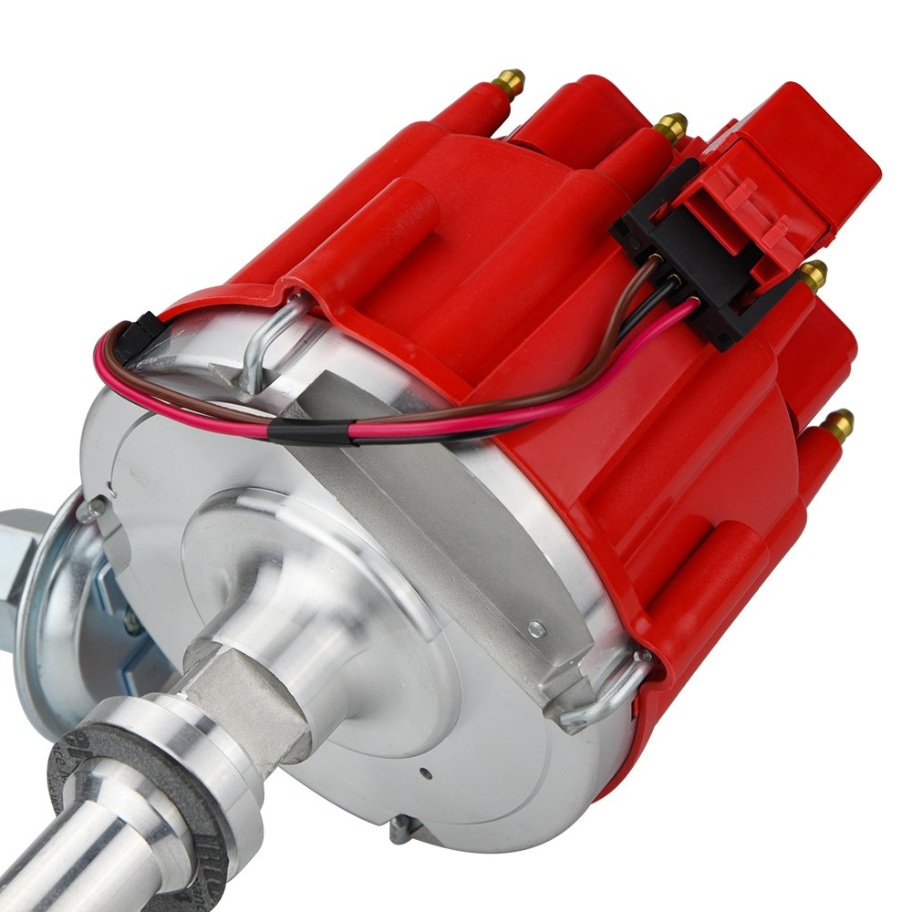 High Performance Red Cap HEI Distributor for Chevrolet Chevy/gm SBC 283 305  307 327 350 400 BBC 454 396 427 Small/Big Block 65k coil 7500RPM