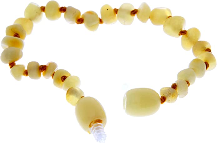 100/% Genuine Honey Amber Anklet//Bracelet Knotted from UK Dristributor 12-23CM