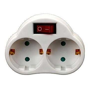 Relativ Doppel zweifach Steckdose mit Schalter Steckdosenschalter Stecker WV13
